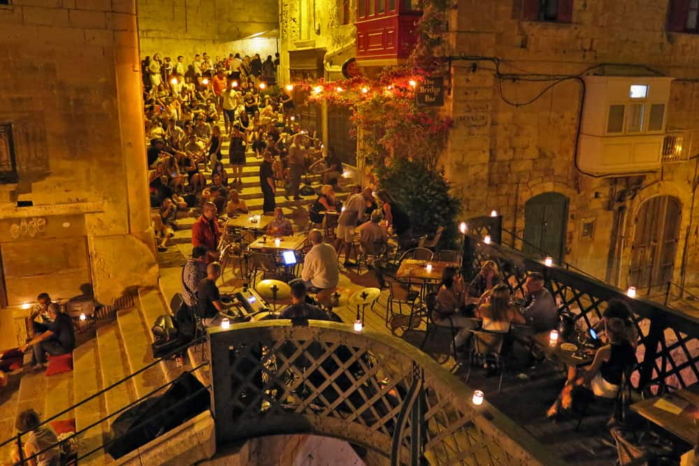 Bridge Bar in Valletta, Malta