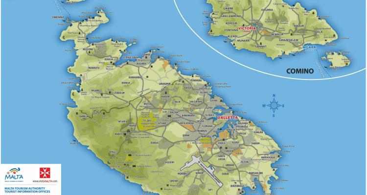 Cartina Malta