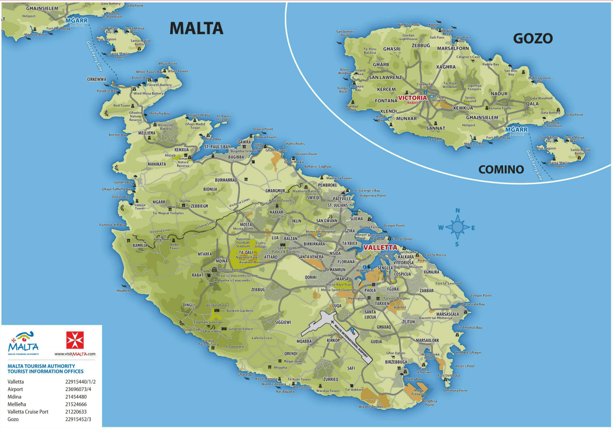 Dove Si Trova Malta Cartina.Le Cartine Di Malta Per Orientarsi Nell Isola Guida Di Malta